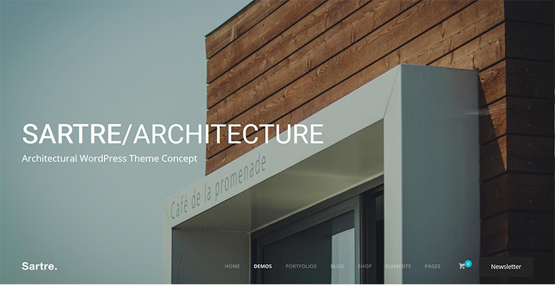 Sartre themes wordpress creer site internet architecte decorateur interieur