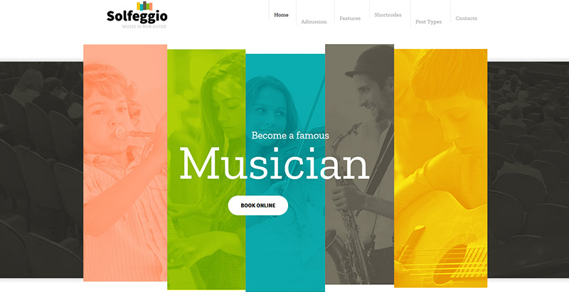 Solfeggio themes wordpress creer site web e learning education enseignement