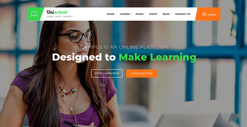 Unischool themes wordpress creer site web e learning education enseignement
