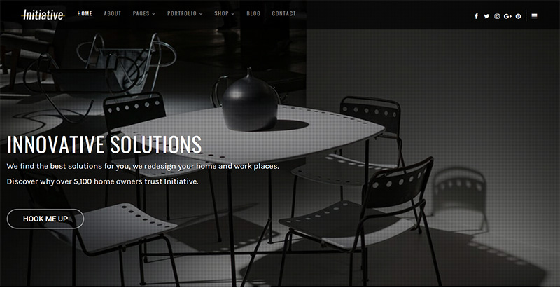 Initiative themes wordpress creer site internet architecte decorateur interieur