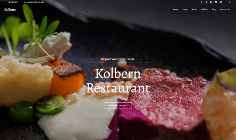 Themes Wordpress Creer Site Internet Restaurant Blogpascher