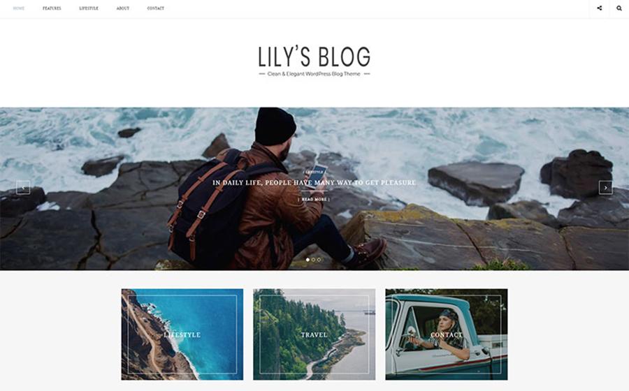 Lily: tema WordPress pulito ed elegante per il blog