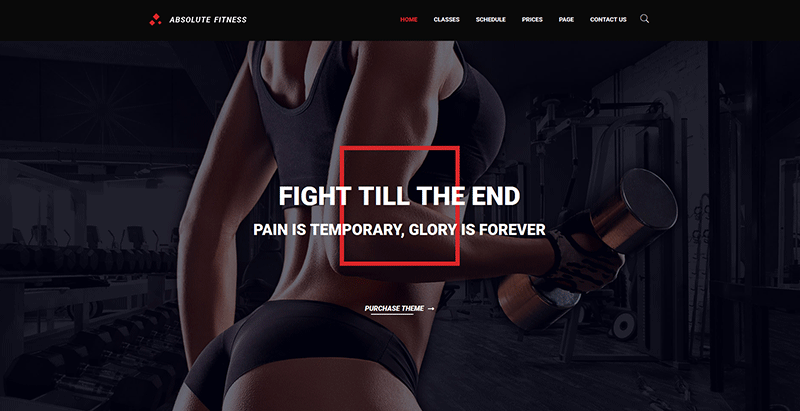 Absolute fitness themes wordpress creer site internet club fitness sport gym