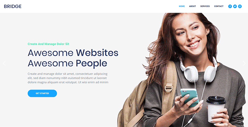 Bridge themes wordpress creer site web startup pme entreprise