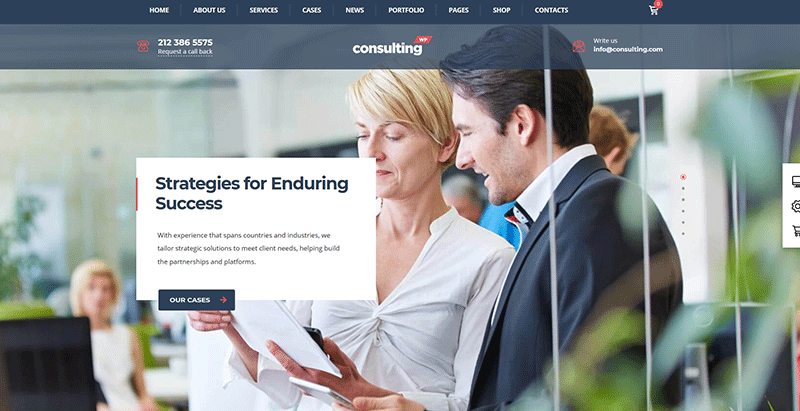 Consulting wp themes wordpress creer site web entreprise financiere comptable audit