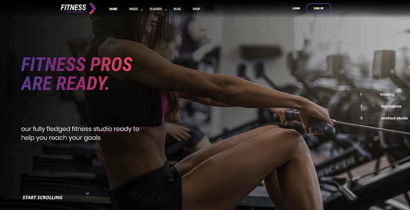 Fitnessgym themes wordpress creer site internet club fitness sport gym