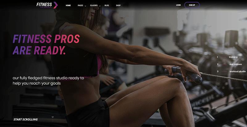 Fitnessgym themes wordpress creer site internet club fitness sport gym