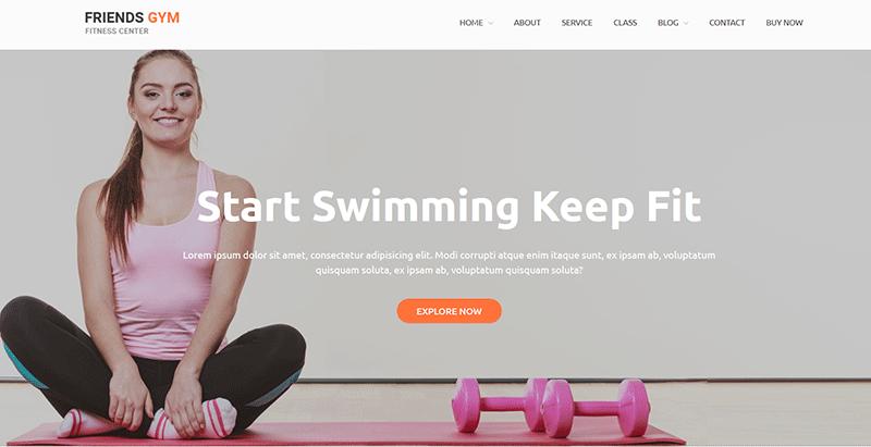Friend gym themes wordpress creer site internet club yoga