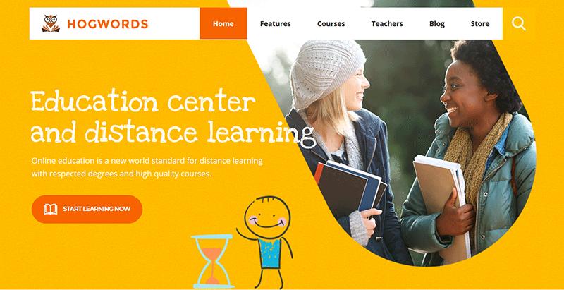 Hogwords themes wordpress creer site web ecoles universites college