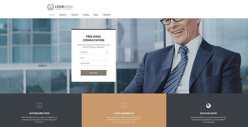 Legalalien - créer un site web de procureur