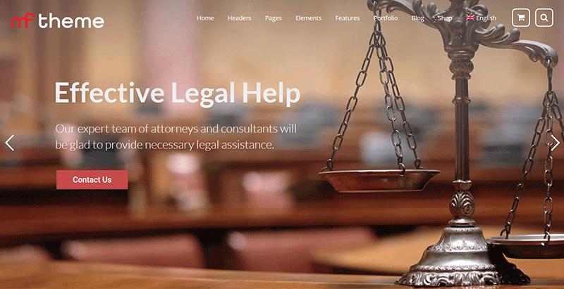 Mf themes wordpress creer site internet procureur loi justice