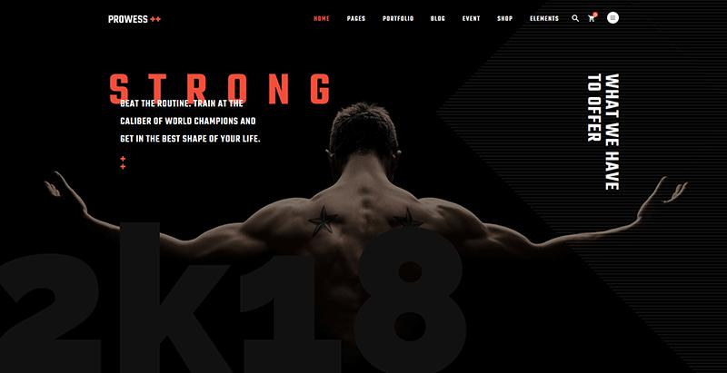Prowess themes wordpress creer site web club gym fitness yoga