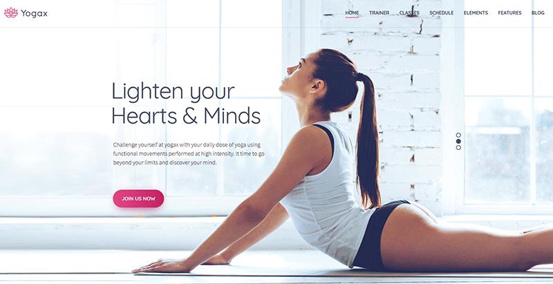 Yogax themes wordpress creer site internet club yoga