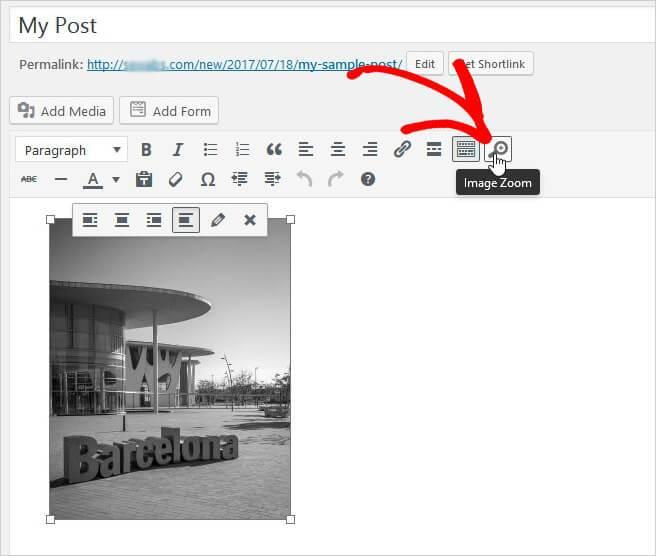 добавьте увеличение изображений на pages.jpg