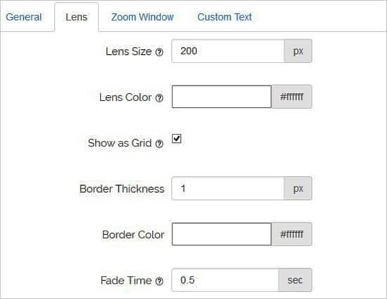 configuration des lentilles sur WordPress.jpg