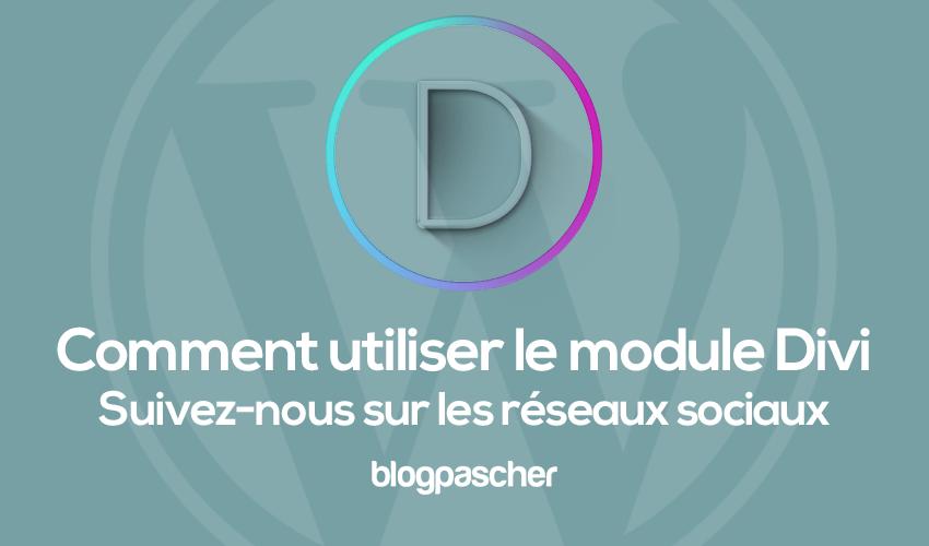 Divi-module volg ons op sociale netwerken