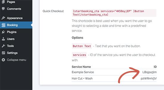 obtenha o identificador de um serviço startbooking.png