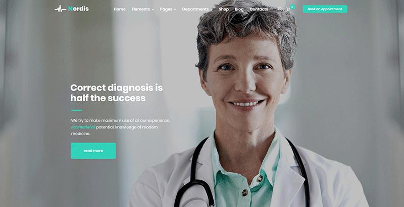 Nordis themes wordpress creer site web centre sante clinique medecin