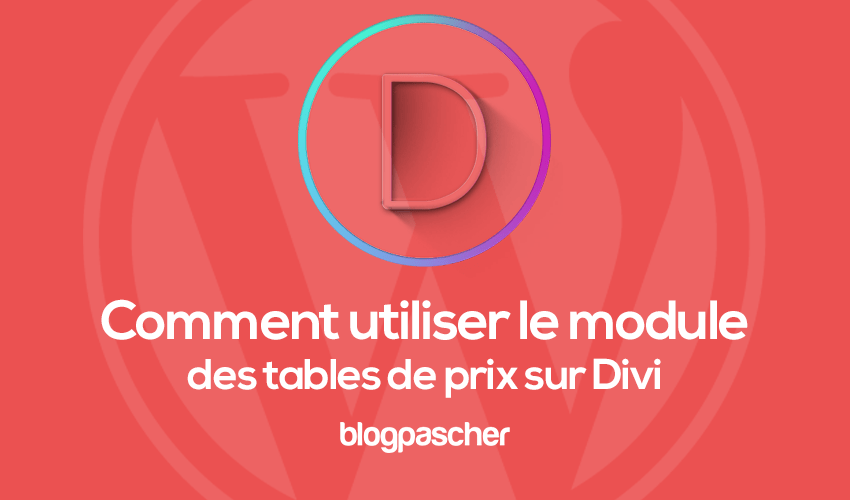 How to use the price tables module on divi