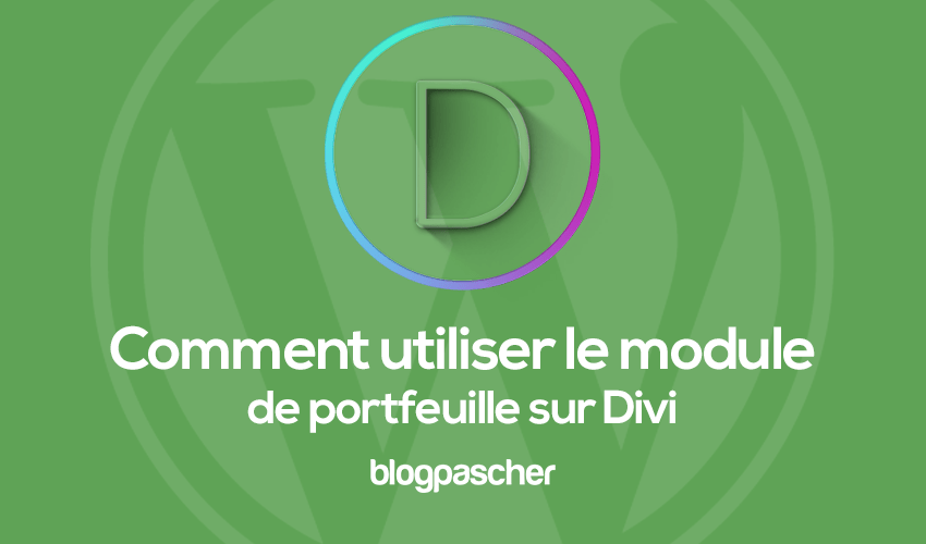 How to use the portfeuille module on divi