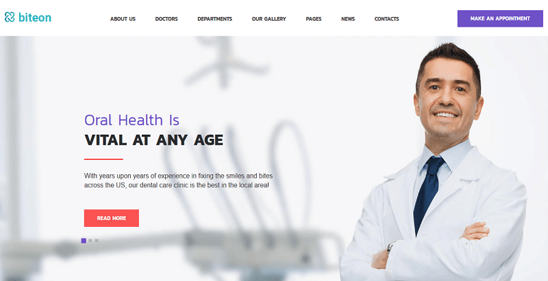 Biteon themes wordpress creer site web hopital clinique dispensaire