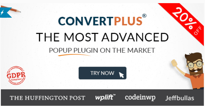 Convertplus plugins wordpress creer popup pop up opt in