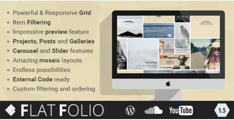 Flatfolio flat cool wp portfolio plugins wordpress creer mises a jour
