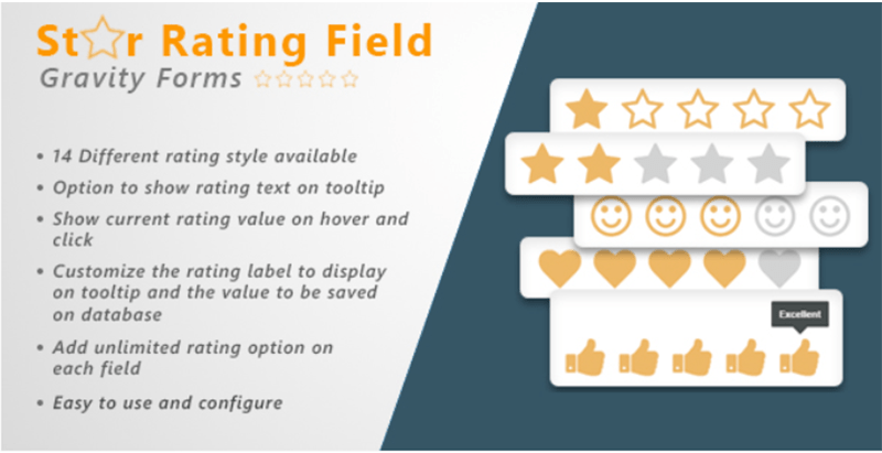 Gravity Forms star rating field wordpress plugins verzamelen gebruikersrecensies