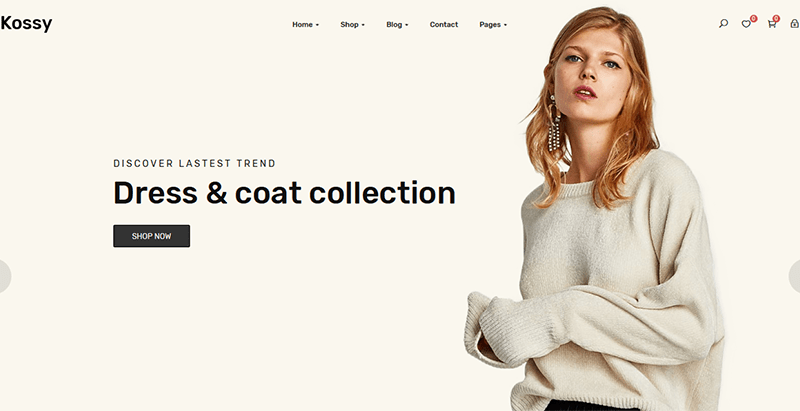 Kossy themes wordpress creer site web e commerce