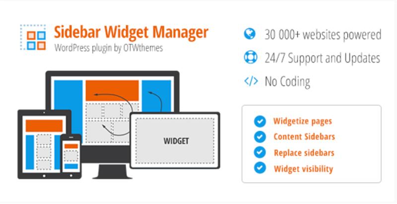 Sidebar widget manager for wordpress plugins creer widgets site internet