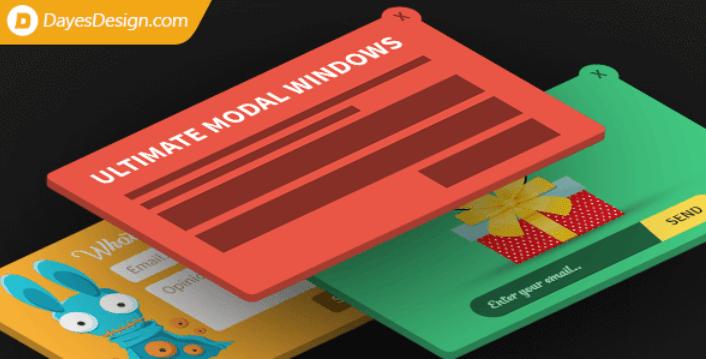 Ultimate modal windows plugins wordpress creer popup pop up opt in