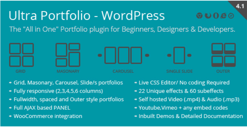 Ultra portfolio plugins wordpress creer sliders votre site web diaporamas diapositive