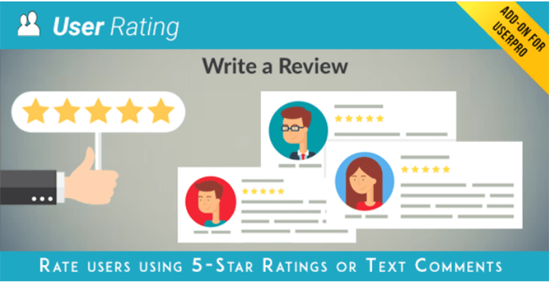 User rating review add on for userpro plugins wordpress recueillir avis utilisateurs