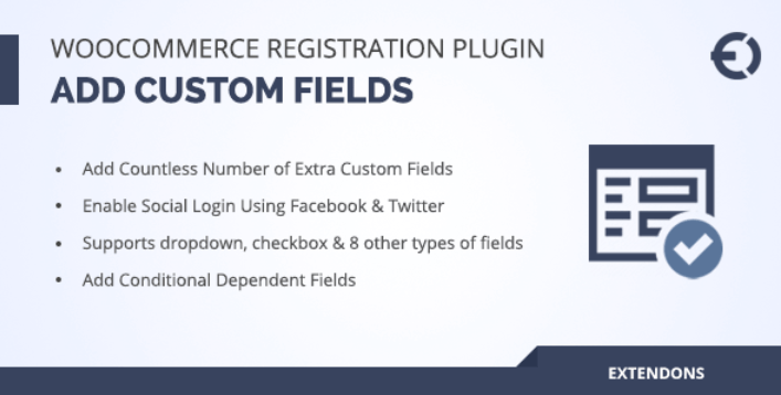 Woocommerce registration plugin add custom registration fields