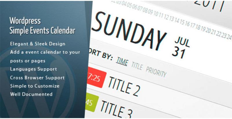 Wordpress events calendar plugins creer mises a jour