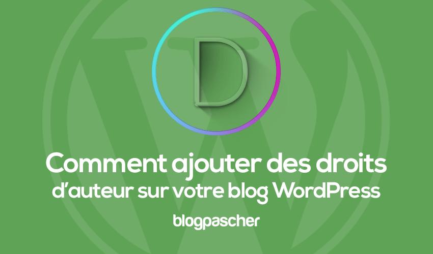 Comment utiliser les droits dauteurs sur wordpress