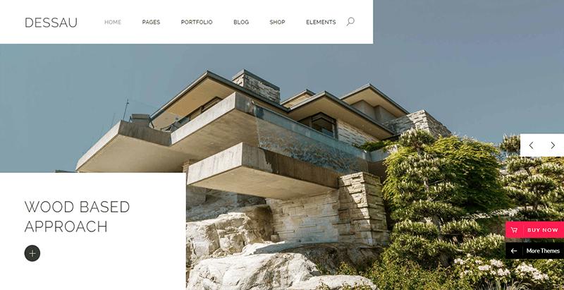 Dessau theme wordpress creer site web entreprise architecte construction