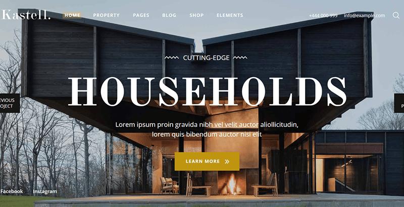 Kastell real estate theme wordpress immobilier
