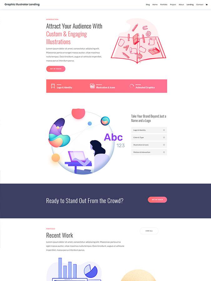 Template layout divi créer site web graphisme graphique webdesigner webmaster