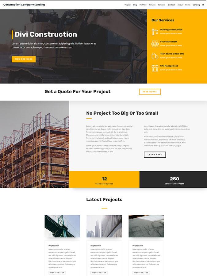 Thème divi créer site web wordpress construction templates layouts