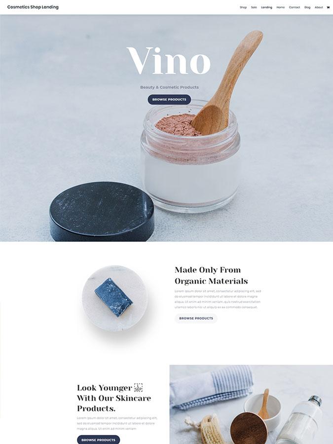 Thème wordpress divi créer site web cosmétiqes beauté templates layouts