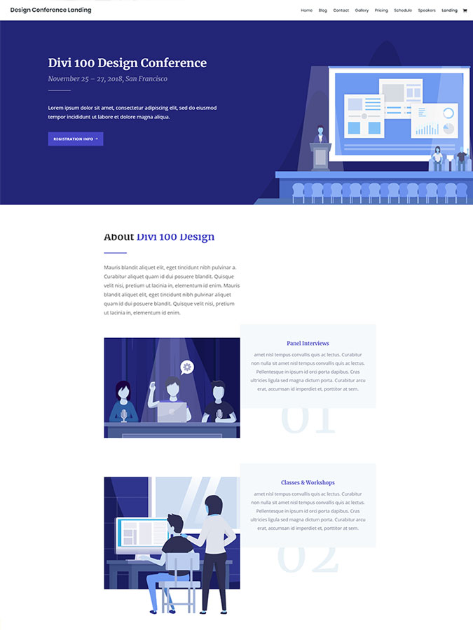 Thème wordpress divi créer site web freelance webdesign divi template layout