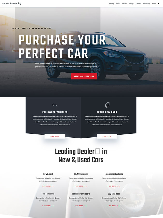 Best templates layouts divi to download for free blogpascher template divi to create a car sales website maxwellsz