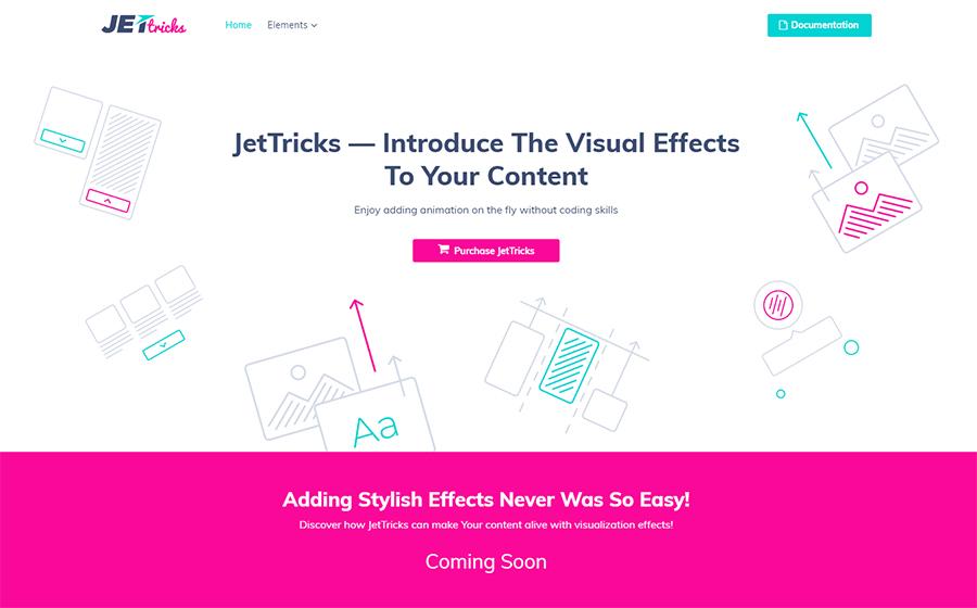 JetTricks - Visual Effects Addon para Elementor WordPress Plugin