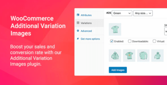 Woocommerce additional variation images plugin wordpress