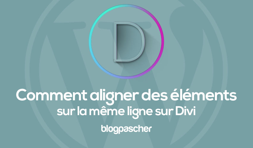 How to display elements on the same line on divi 1