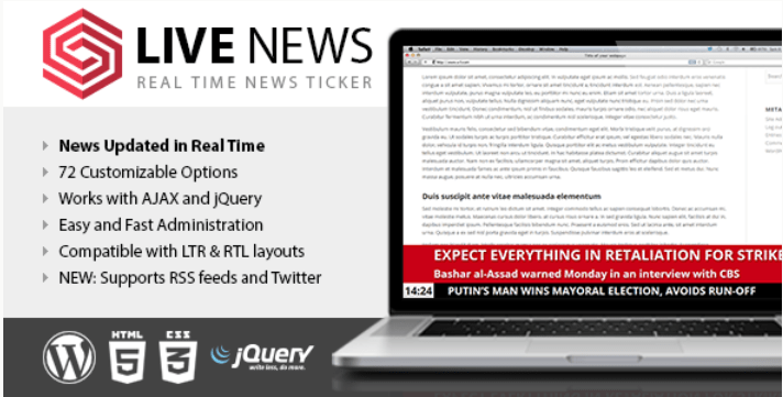 Live news real time news ticker