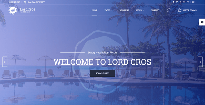 Lordcros theme wordpress creer site web hotel
