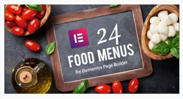 Restaurant food menus for elementor page builder