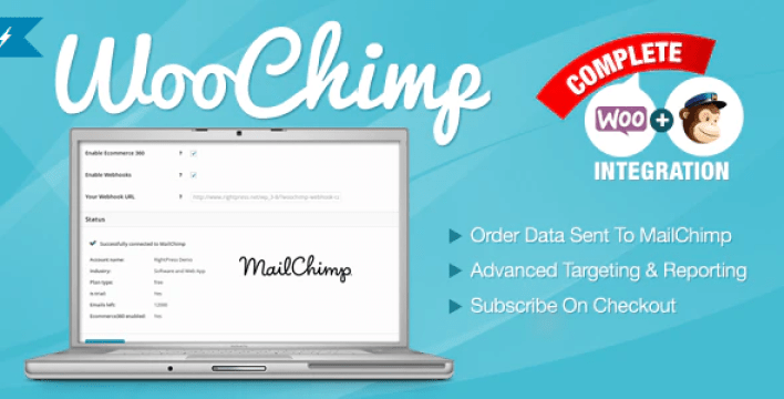 intégrer MailChimp à WooCommerce - Woochimp woocommerce mailchimp integration plugin wordpress